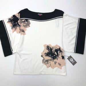 Vince Camuto Womens Flower Top Shirt Sz L NWT